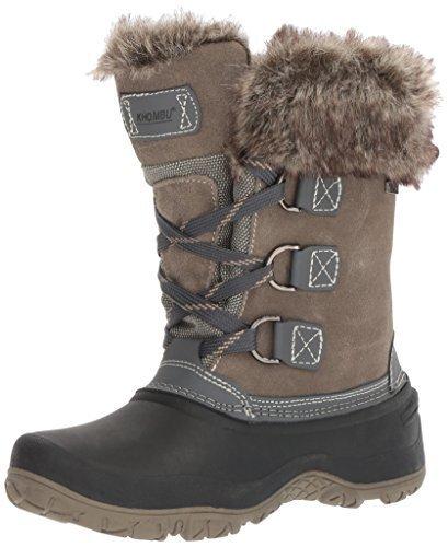 Khombu Womens The Slope Winter Snow Boots (8, Grey)