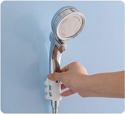 Ventosa Esterna Non Porosa in Silicone Utilizzato per La Cremagliera della Parete della Ventosa del Bagno Senza Perforazione HHNN 2 Pezzi Staffa Autoadescante per Soffione Doccia