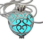 UMBRELLALABORATORY Wishing Heart Fairy Magical Fairy Glow in The Dark Necklace-Aqua-SIL 8