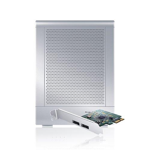 Sans Digital TowerRAID 4-Bay USB 3.0/eSATA Hardware RAID 5 Tower with 6G PCIe 2.0 Host Bus Adapter TR4UTP (Silver)