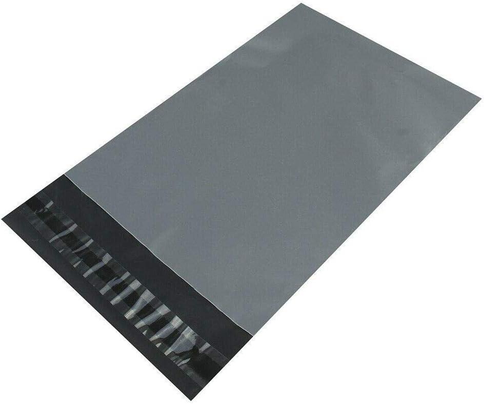 Diamond Packaging Lot de 1000 sacs postaux en plastique Gris 305 x 405 mm