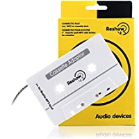 Reshow Travel Cassette Adapter for Cars – Listen to iPods, Smartphones, MP3 Players or a Walkman in a Standard Vehicle Cassette Player – Vintage/Retro Music Converter