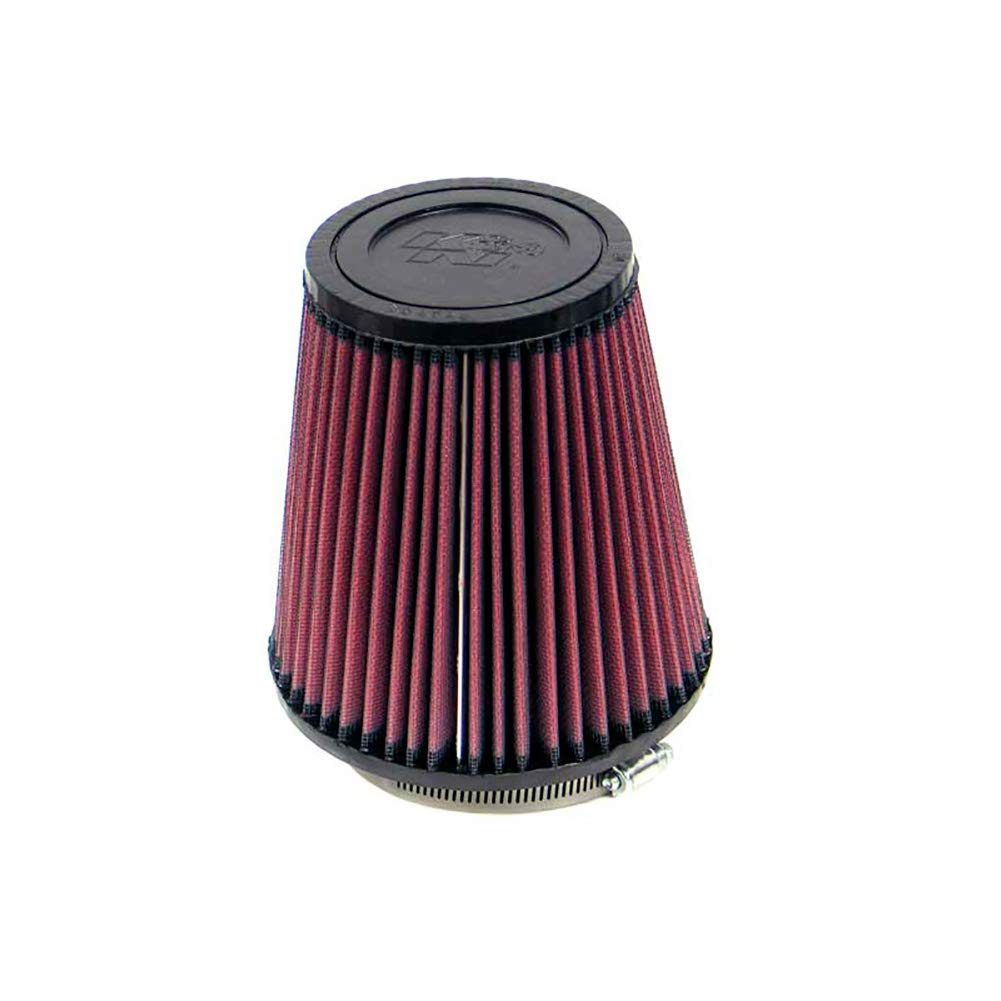 K&N RF-1032 Universal Clamp-On Air Filter: Round Tapered; 4 in (102 mm) Flange ID; 7 in (178 mm) Height; 6.5 in (165 mm) Base; 4.5 in (114 mm) Top by K&N