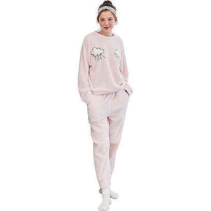 SEX Pijamas de invierno, franela de invierno cálido y lindo, cálido y cómodo chándal
