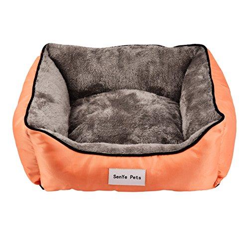 YINGYAO SENYE Pets Quadrate Dog Bed Autumn and Winter Beds Washable Fashion Sofa Cushion (XL, Orange) For Sale