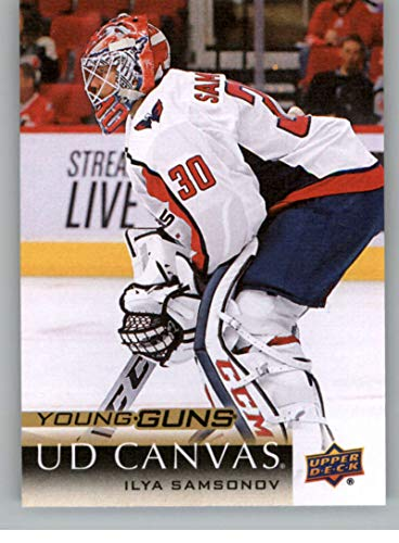 2018-19 Upper Deck Canvas Hockey Series Two #C227 Ilya Samsonov Washington Capitals Young Guns Short Print Official UD NHL Hockey Card