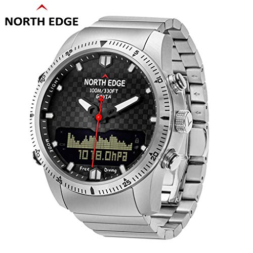 Kanzd North Edge GAVIA Diving Business Sports Watches Waterproof Smart Relogio Compass (A)