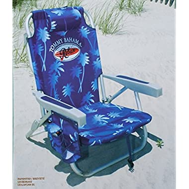 Tommy Bahama 2015 Backpack Cooler Chair with Storage Pouch and Towel Bar- blue