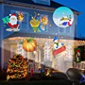 UOOYOO Halloween Projector Light GIF Slide Outdoor Waterproof Landscape Lighting Christmas Lights Party Thanks Giving Birthday Light with Wireless Remote