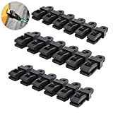 Genenic Clamp Tarp Clips,Black Camping Tent Clamp Clips Jaw Snaps Tent Tighten Lock Grip for Outdoors,Garden(18 pack)
