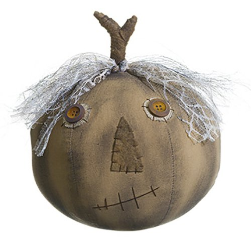 10.5'' Artificial Halloween Pumpkin -Brown (pack of 6) by SilksAreForever