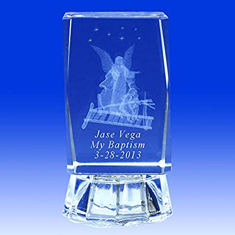 Personalize custom laser engraving crystal cube 3D Crystal Guardian Angel Favors 3