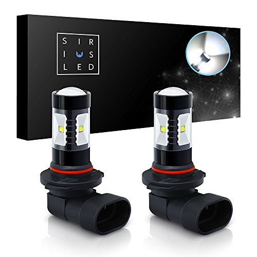SiriusLED Projection DRL Fog Light LED Bulb Size 9006 HB4 Color 6000K White 30W Pack of 2 ()