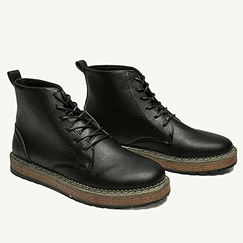 Men's Colors Winter 3 Keep Leather CN43 UK8 Shoes Color Fashion Warm High EU42 Black Feifei 5 Size Shoes Help rfwqRxr