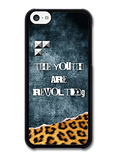 The Youth are Revolting Quote Punk Anarchy Goth Grunge wiht Leopard Print case for iPhone 5C