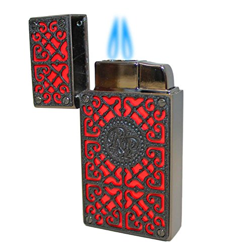 Rocky Patel Burn Collection Lighter - Red with Black Plate