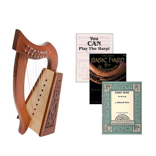 Homeschool Music Lily Harp w/Introduction to Harp Book Bundle + Early Music for the Harp] by Homeschooling Harps