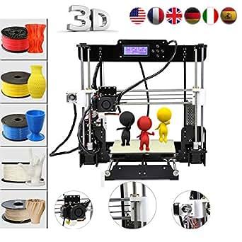 Impresora 3D Abcs Printing A8 Acrilico Prusa I3 Pro B Kit, DIY Impresoras 3D series , CNC,Apoyo la diversidad de material Tamaño de Impresión Grande 220 * 220 *240mm