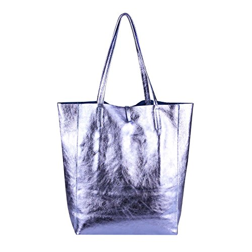 OBC Only-Beautiful-Couture, Borsa a mano donna Rosa Rosa-schlange ca.: 38x36x9 cm (BxHxT) Helllila-metallic