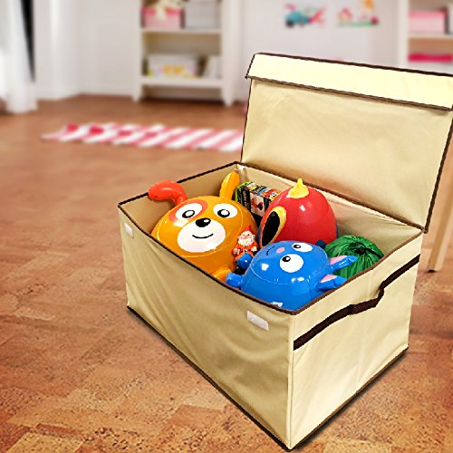 Disney Collapsible Storage Trunk Toy Box Organizer Chest: EasyGoProducts Giant Toy Box Folding Toy Trunk Organizer