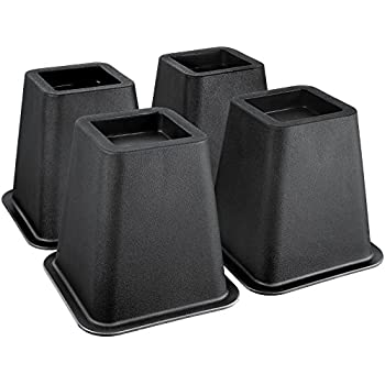 Greenco Super Strong Bed and Furniture Riser, Sleek Design, Great for Under Bed Storage - Pack of 4