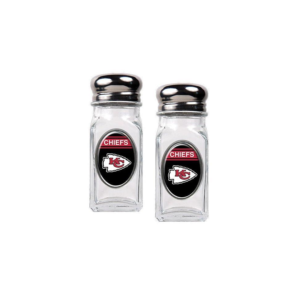 Kansas City Chiefs NFL Salt and Pepper Shaker Set with Crystal Coat (Crimson)