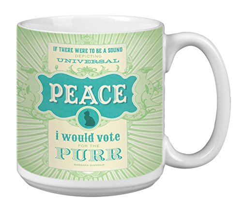 Tree-Free Greetings Extra Large 20-Ounce Ceramic Coffee Mug, Universal Happiness Themed Cat Lover Art (XM63181)