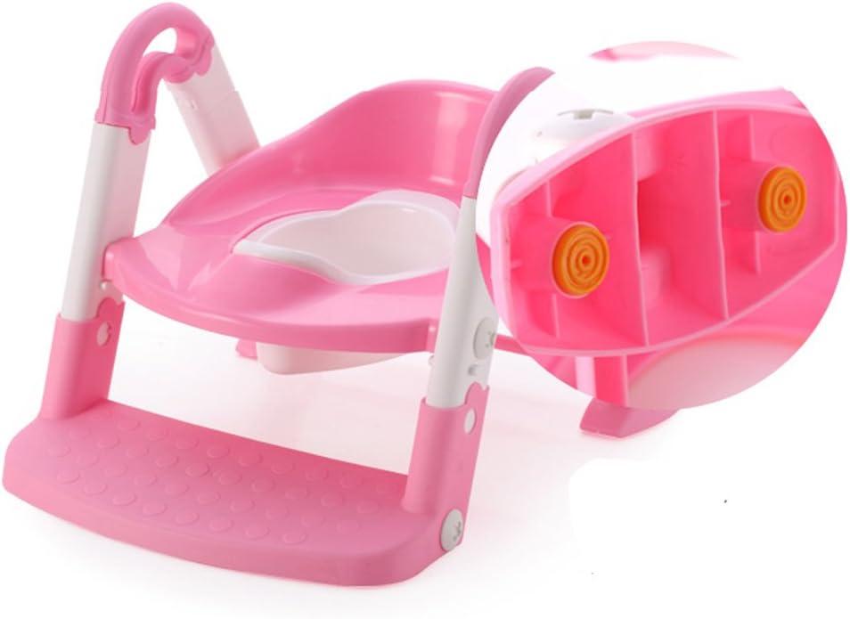 Babyyyuga rosa 3 calaveras Asiento para inodoro con escalera de entrenamiento para beb/és y ni/ños