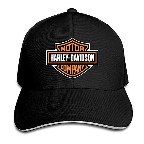 nntbj ajustable Sanwich caza pico sombrero y gorra logotipo de Harley Negro