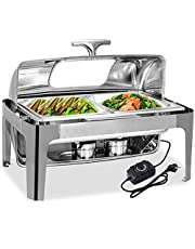 Electric Catering Food Warmers Chafing Dish for Parties Buffets, 9L Rectangular Catering Chafer Warmer Set for Any Party, Football Game or Office Gathering YZPBB (Size : GN 1/2)