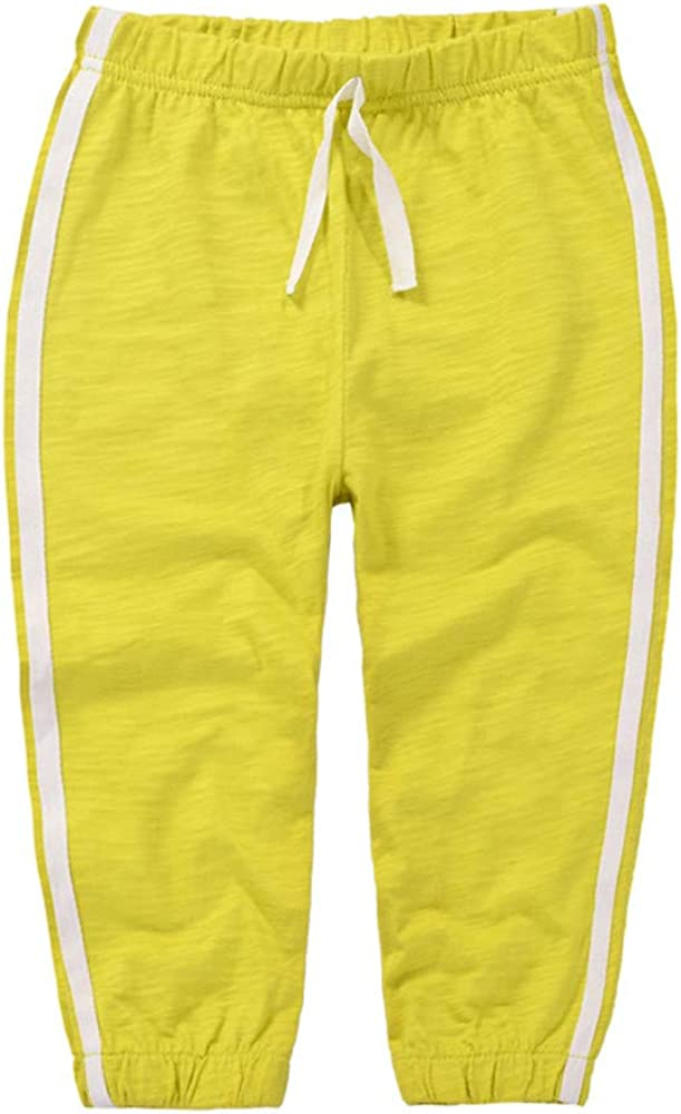 Casa Unisex Kids Trousers Anti Mosquito Bamboo Cotton Pants Summer Childrens Thin Section Sports Tracksuit Elastic Waist Bottom for 1-6 Years