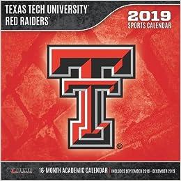 Texas Tech Calendar 2019 Texas Tech Red Raiders 2019 Calendar: Lang Holdings Inc