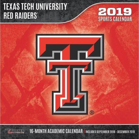 Texas Tech Red Raiders 2019 Calendar (Raiders Calendar)