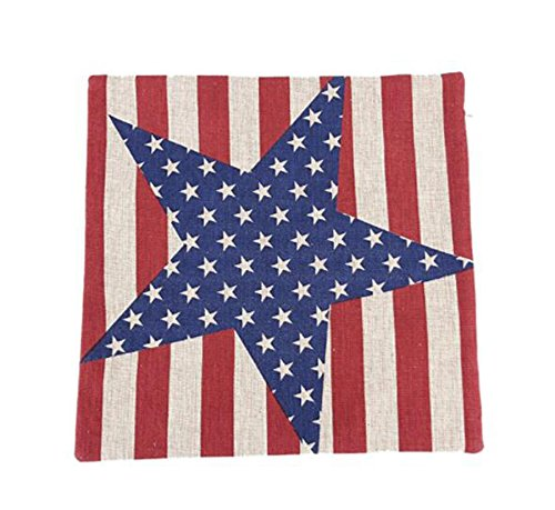 24 Star Flag (Vintage Style American Flag the Stars and the Stripes Pillow Case, Pillowcase (Big Star),24x24inch Two sides)