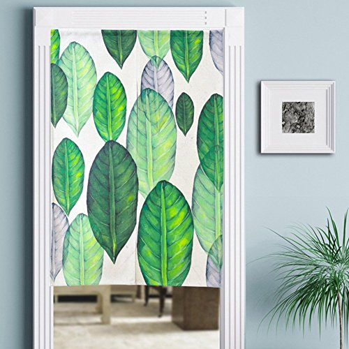 YAOHAOHAO Magnetic cotton rideau, cloth-of-the-art of the anti-mosquitoes y-silent super fine mesh ventilation curtain printed models flower screen curtain magnetic-D 80 x 120 cm (31 x 47 Customs)