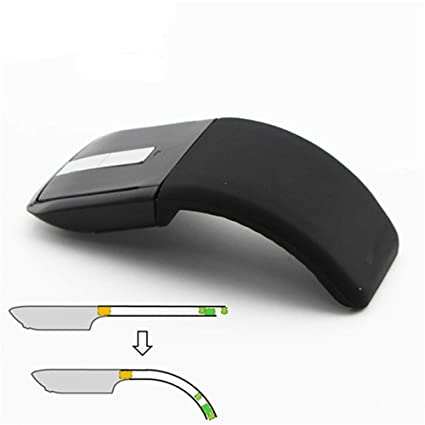 d8f9772db57 Image Unavailable. Image not available for. Color: 2.4Ghz Foldable Wireless  Mouse Folding Arc Touch Mouse Mause Computer Gaming Mouse Mice ...