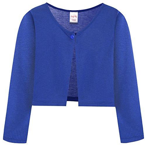 Bonny Billy Little Girls' Long Sleeve Lace Bolero Cardigan Shrug 5-6 Years Dark Blue