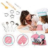 Geefia Apron Set for Kids, 15pcs Cooking and Baking