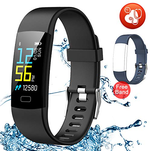 Juboury Fitness Tracker HR, Activity Tracker Watch Heart Rate Monitor with One Extra Band Free Waterproof Smart Bracelet Step Counter, Calorie Counter, Pedometer Watch Kids Women Males, Android & iOS – DiZiSports Store