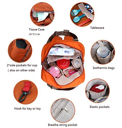 bebamour travel backpack diaper bag tote handbag purse orange buy online in uae baby. Black Bedroom Furniture Sets. Home Design Ideas