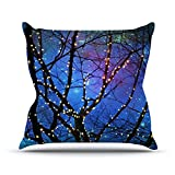 Kess InHouse Sylvia Cook Holiday Lights Christmas Outdoor Throw Pillow, 18'' x 18''