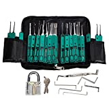 Premium 32 Piece Lock Tool Set with Transparent Pad Lock