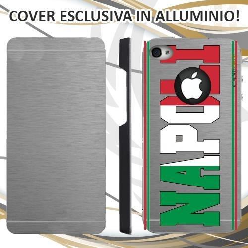 CUSTODIA COVER CASE SKILINE NAPOLI PER IPHONE 4 ALLUMINIO TRASPARENTE