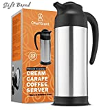 ChefGiant Thermal Carafe, 33 oz Coffee Thermos, Double Wall for Hot and Cold