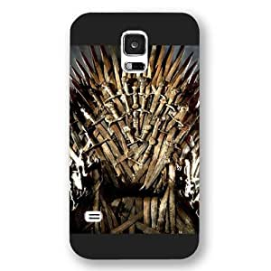 Onelee - Customized Personalized Black Frosted Samsung Galaxy S5 Case, Game of Thrones winter is coming Samsung S5 case, Only fit Samsung Galaxy S5 by ruishername