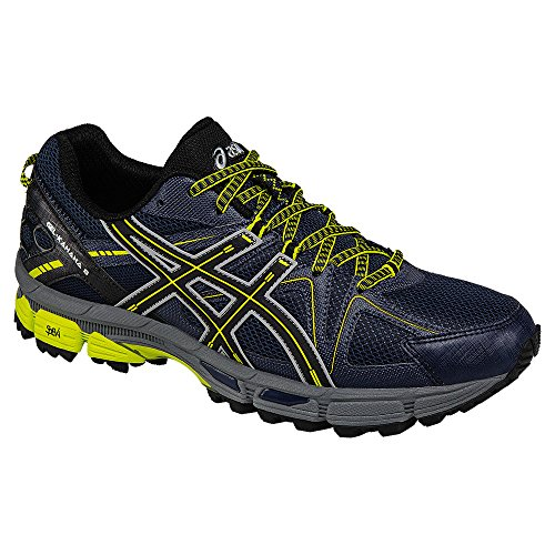 ASICS Men's Gel-Kahana 8 Trail Runner, Dark Navy/Black/Sulphur Spring, 6 M US T6L0N.5890
