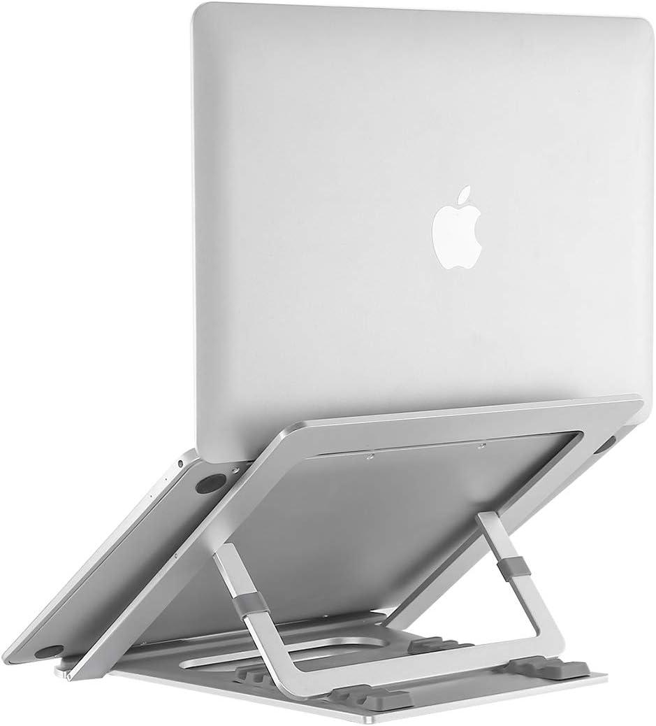 supporto per tablet portatile in alluminio pieghevole Dell Lenovo regolabile a 6 angoli compatibile con MacBook Air Pro altri portatili da 10 a 15,6 Supporto per computer portatile