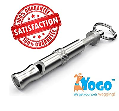 Dog Whistle to Stop Barking,Teach Discipline and Commands. Valuable User Guide and Tips Emailed by YogoTM. Adjustable, High Pitch, Compact Field Whistle. Stop thise Barking Dogs Now!