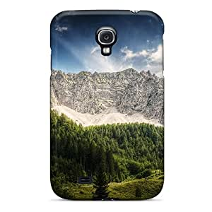 Tpu Case Cover For Galaxy S4 Strong Protect Case - Cabins In The Austrian Alps In Summer Hdr Design