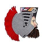 Beard Head - The Original Barbarian Knight Knit Beard Hat (MultiColoured)